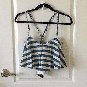 BRAND NEW: Zara stripped crop top